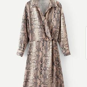 Dresses & Skirts - Snakeskin Print Shirt Dress